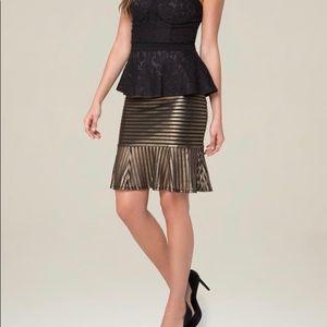 Bebe Gold Stripe Mermaid Skirt NWT